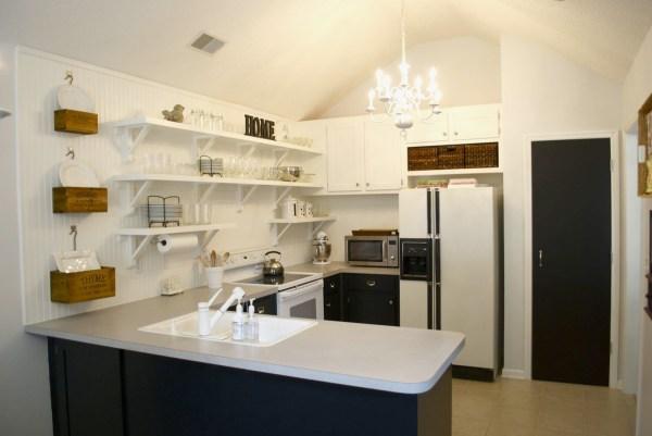 Remodelaholic Kitchen Remodel Removing Upper Cabinets For Shelving