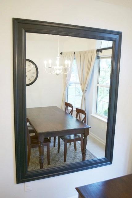 kitchen remodel black base cabinets bead baord backsplash open shelves dining room makeover (14)