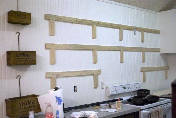 kitchen remodel black base cabinets bead baord backsplash open shelves dining room makeover (7)