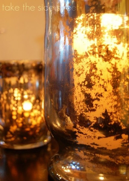 Remodelaholic | Turning Glass into Faux Mercury Glass Tutorial