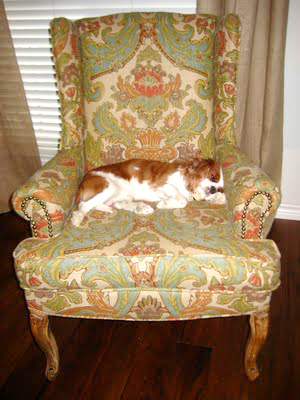 hints for recovering a wingback chair (9)