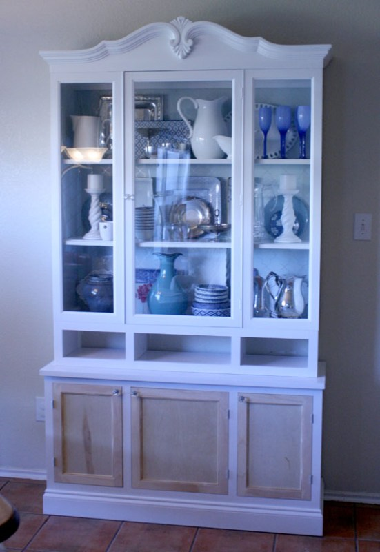 DIY Remodel Of A Kitchen Hutch, By @Remodelaholic