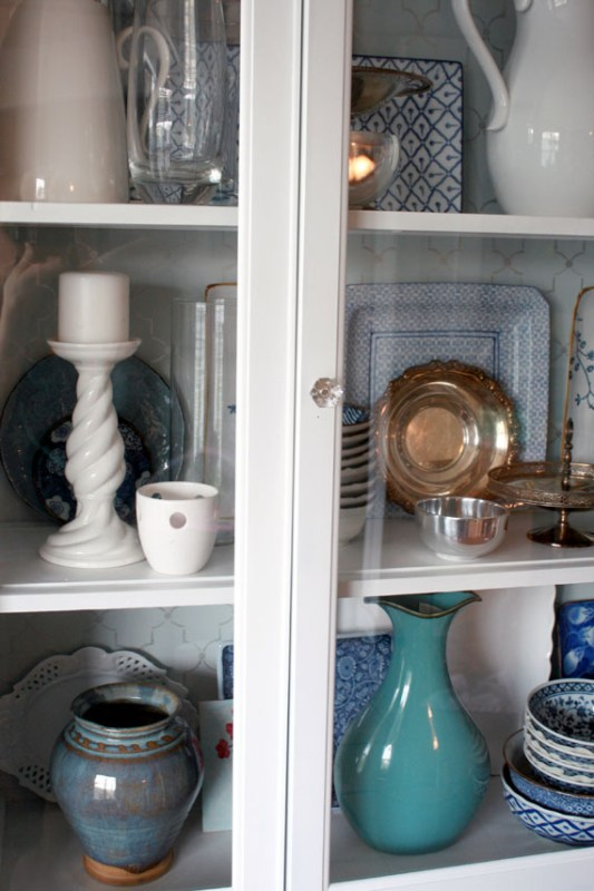 Kitchen Dish Display And Storage, By @Remodelaholic
