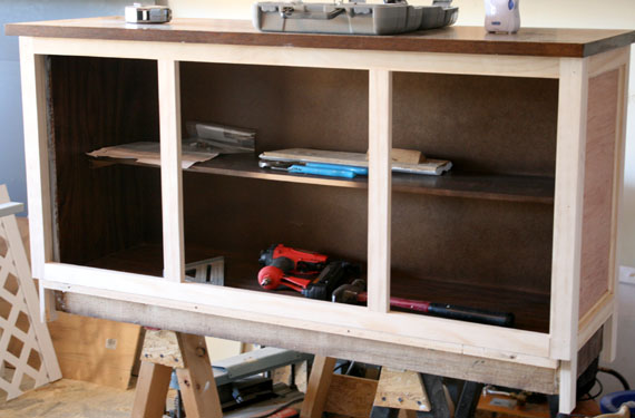 How To Remodel A Hutch To Make It Match Your Home, By @Remodelaholic