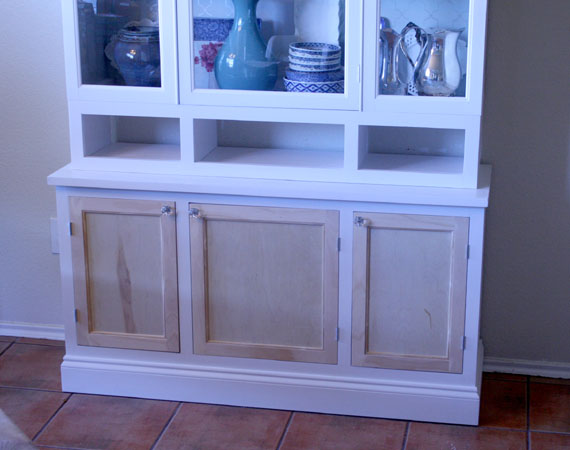 How To DIY The Bottom Of A Kitchen Hutch, By @Remodelaholic