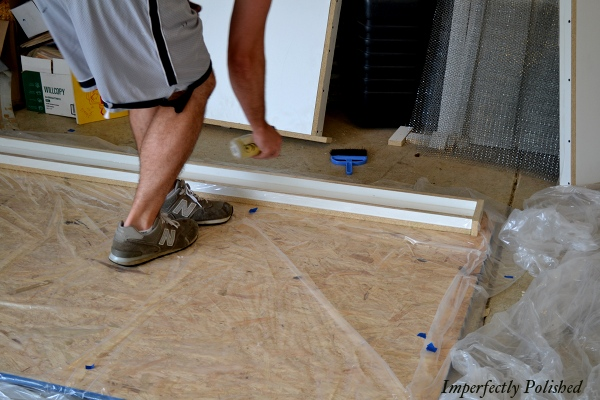 DIY Concrete Countertops And Molding, Building The Frames For The Concrete, By Imperfectly Polished Featured On @Remodelaholic