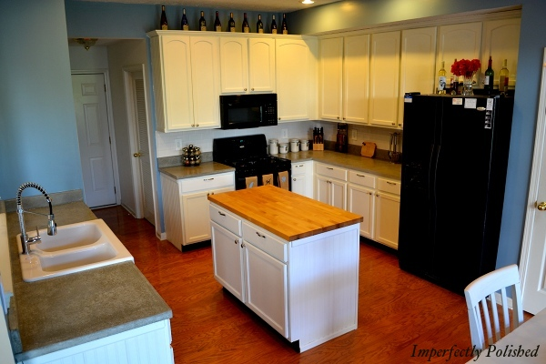 DIY Concrete Kitchen Countertops, By Imperfectly Polished Featured On @Remodelaholic