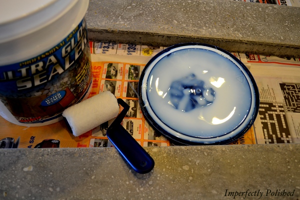 Sealant For DIY Concrete Countertops And Molding, By Imperfectly Polished Featured On @Remodelaholic