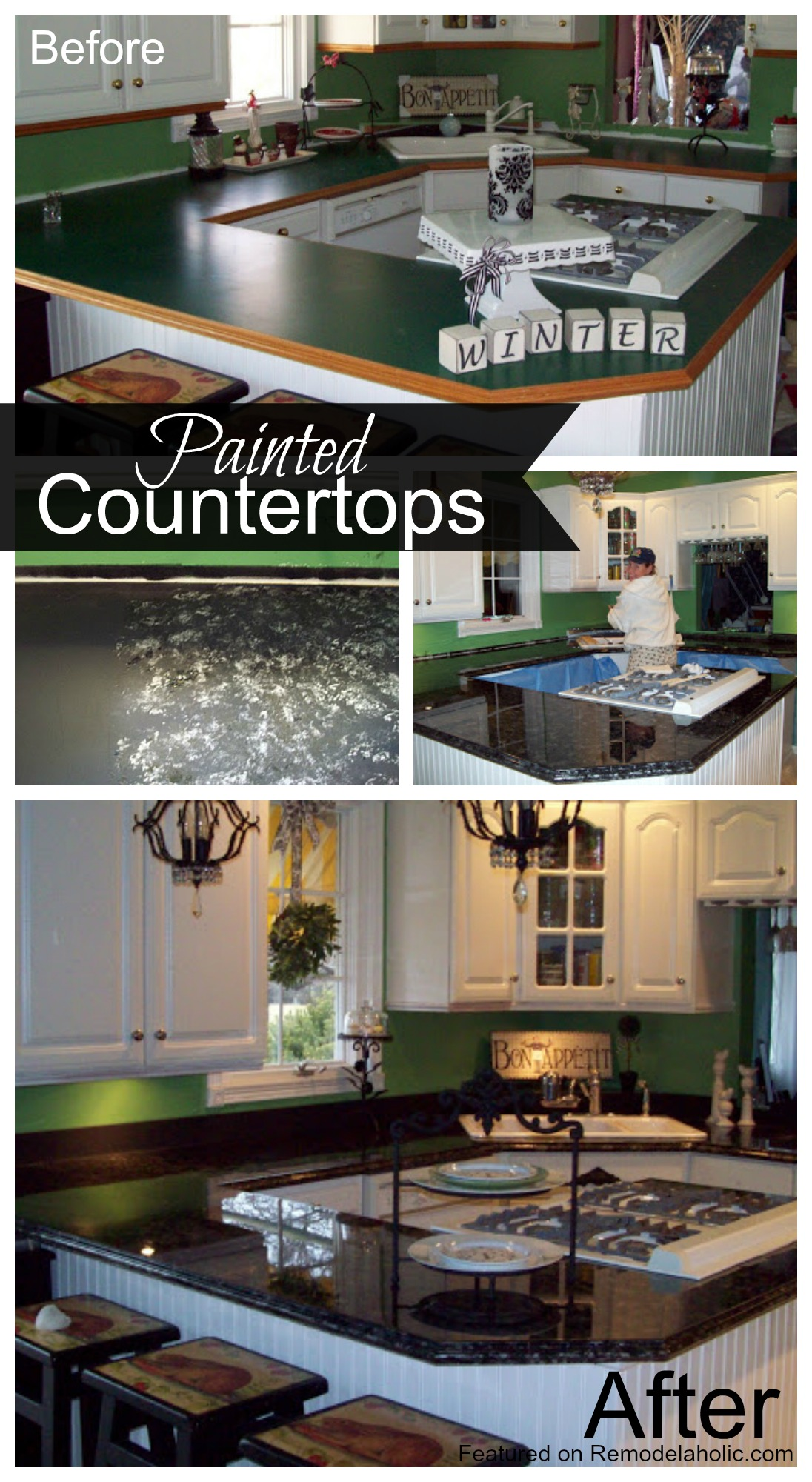 Painted Countertop Tutorial