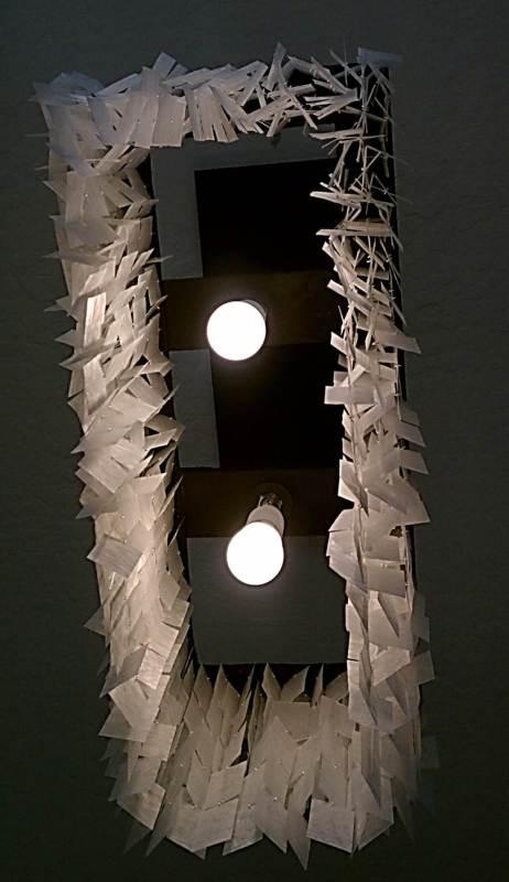 diy faux capiz chandelier 36