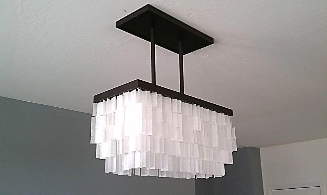 Remodelaholic beautiful faux capiz chandelier tutorial how to diy faux capiz chandelier aloadofball Images