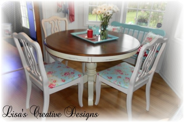Diy Makeover For Upholstered Kitchen Chairs By Lisas Creative Designs Featured On Remodelaholic, Cottage Chic Kitchen