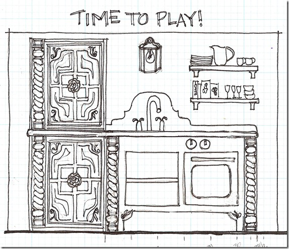 Kids-cottage-kitchen-sketch-plans-to-build
