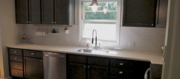 Remodelaholic Charcoal Grey Kitchen Cabinets