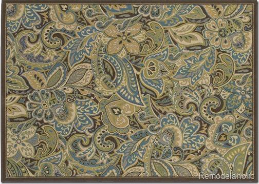 shaw indea rug in teal