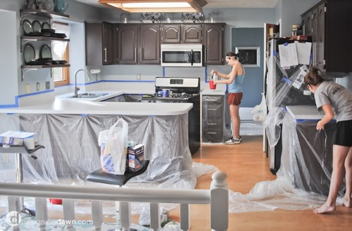 8 DIY Kitchen Countertop Update With High Gloss Surface, By AD Aesthetic Featured On Remodelaholic