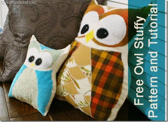 Owl Stuffy Pattern