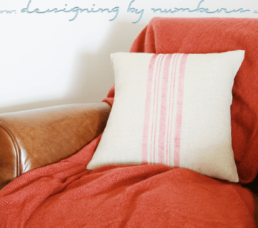 DIY Vintage Grain Sack No-Sew Pillow Cover; Monthly Contributor Project