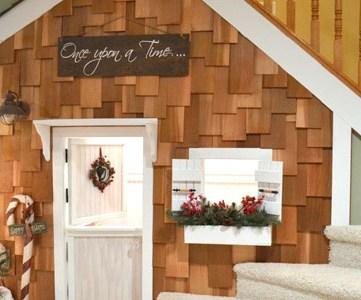 Under Stairs Playhouse With Cedar Shake Shingles