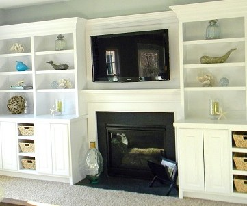 Beach Costal Family Room Makeover
