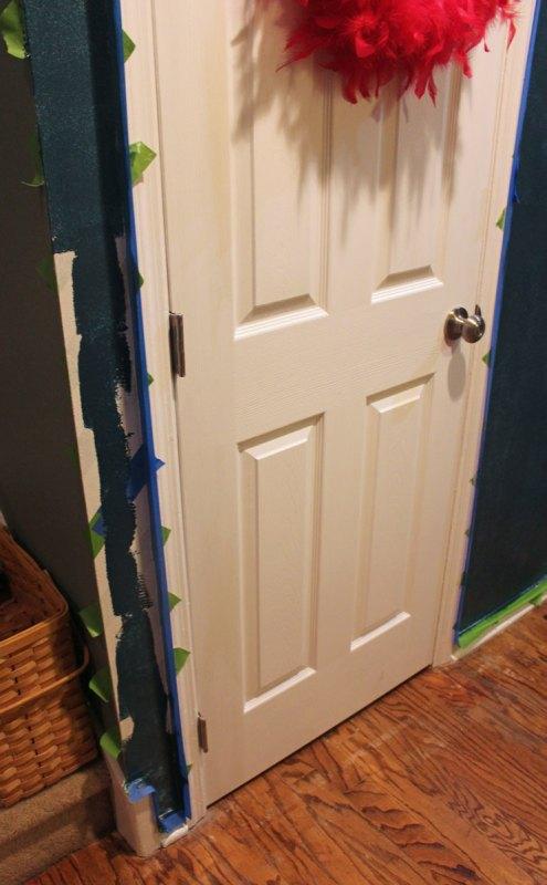 Chrvon stripe painting tutorial #Chevron #tutorial #wall (19)