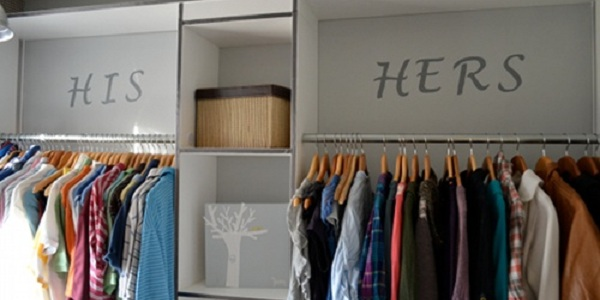 Remodelaholic | His and Hers Master Closet Makeover