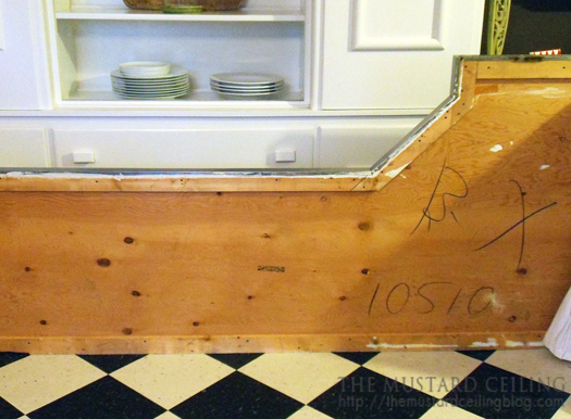 how to replace an old countertop with a solid wood countertop DIY, The Mustard Ceiling on @Remodelaholic