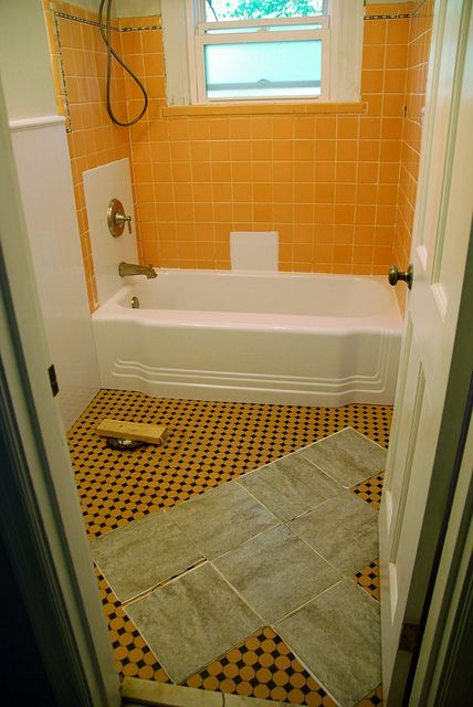Bathroom Redo: Grouted Peel And Stick
