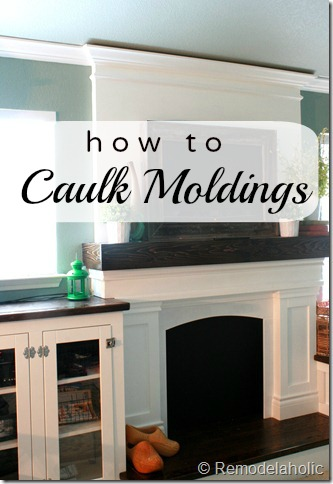 How to Caulk Moldings | Remodelaholic