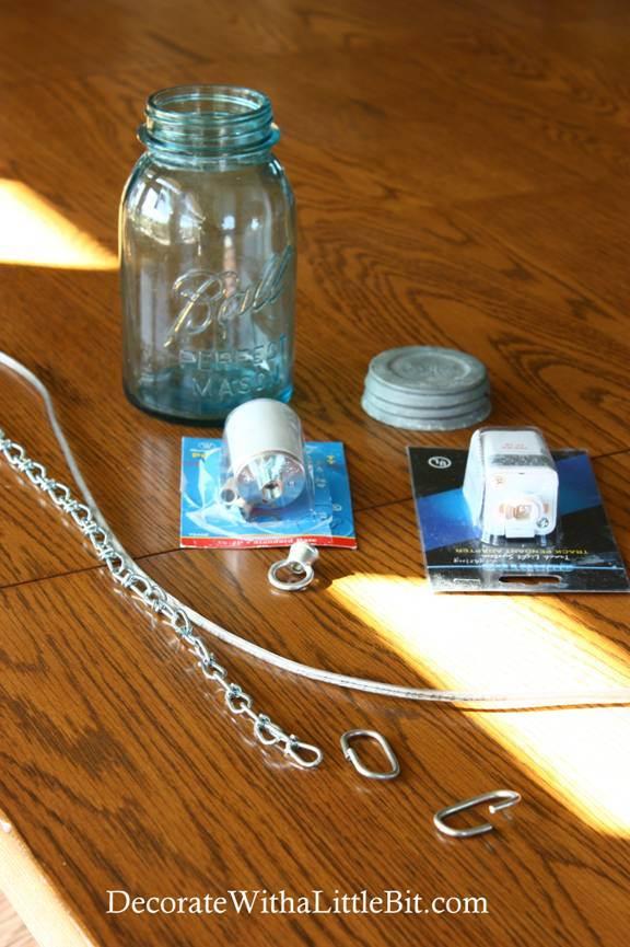 DIY Vintage Canning Mason Jar Pendant Lights (2) & Remodelaholic | DIY Vintage Canning Mason Jar Pendant Lights