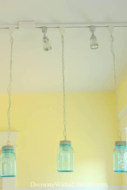DIY Vintage Canning Mason Jar Pendant Lights (5)
