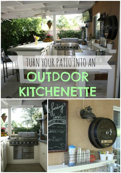 turn your patio into an outdoor kitchenette