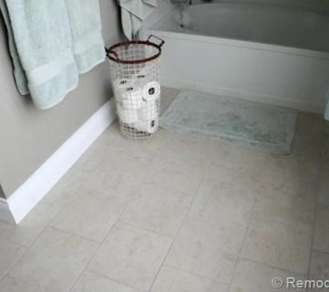 Master Bathroom Flooring Reveal & Giveaway