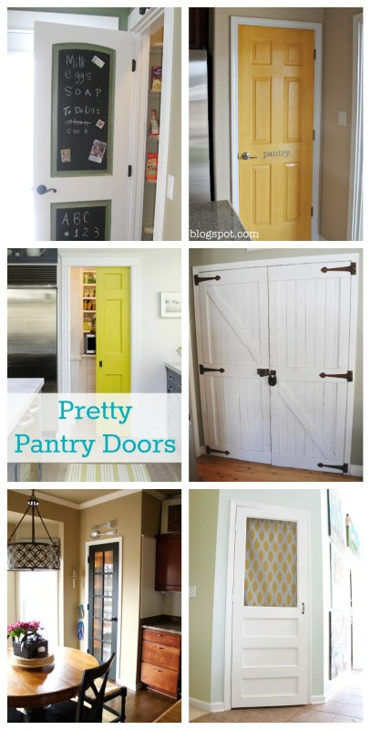 Pretty Pantry Door Ideas featured on remodelaholic