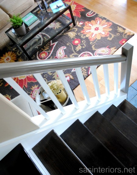 carpeted stair update to wooden stair tutorial