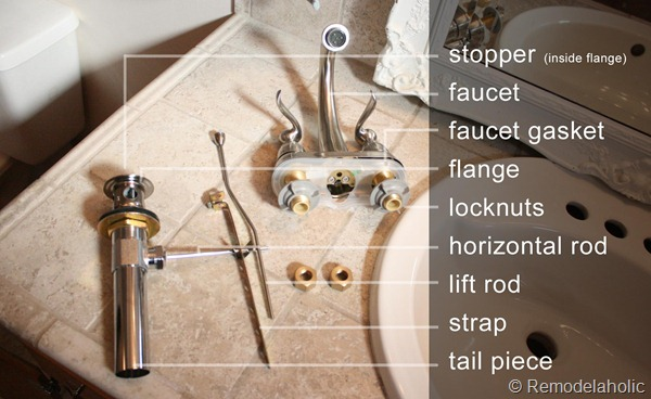 bathroom faucet install image of parts copy