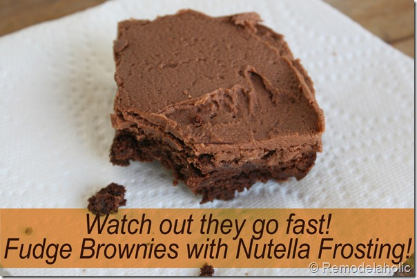 best homemade fudge brownies with nutella frosting recipe2