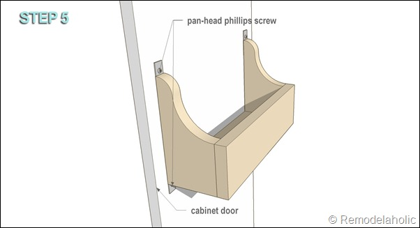 cabinet door storage bin STEP 5