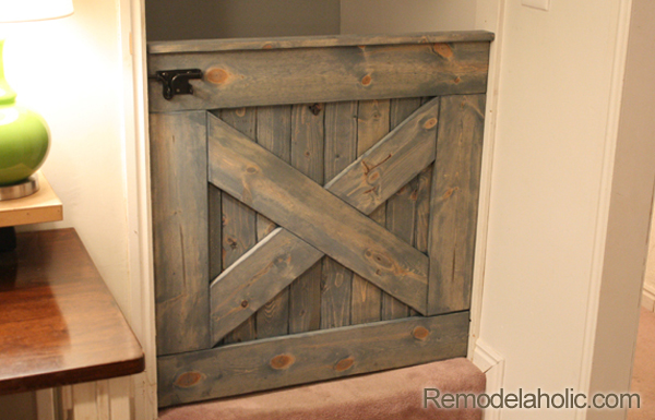 DIY Barn Door Baby Gate for Stairs | Rustic Wood Baby Gate with X | Half Door Baby Gate with Dutch Door