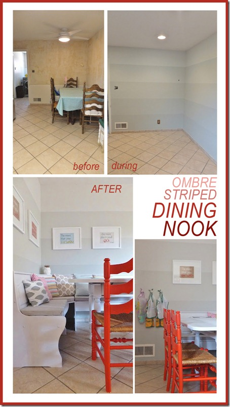 Ombre striped walls ombre painted wall stripes dining room
