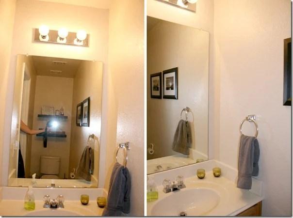 before bathroom plank wall tutorial