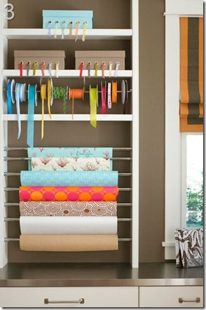 craft room design ideas gift wrapping station