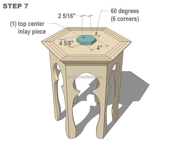 free moroccan side table plans step 7