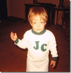 Justin in JC pajamas Oct 1979