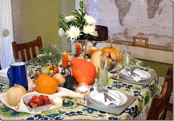 Fall Bounty tablescape Thanksgiving Table setting (1)