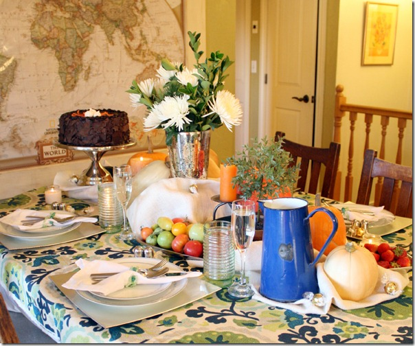 Fall Bounty tablescape Thanksgiving Table setting (3)