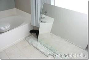 Framing a large bathroom mirror (2)