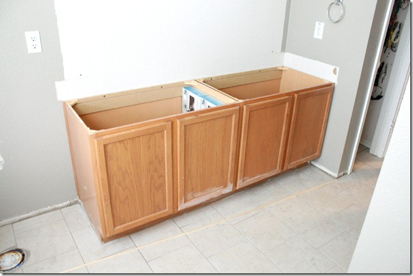 How to Add height to a short bathroom vanity (11)