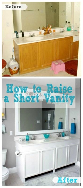 How to Raise a Short Bathroom Vanity