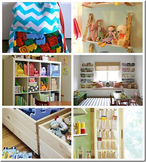 Playroom storage collage